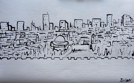 Jerusalem B&W