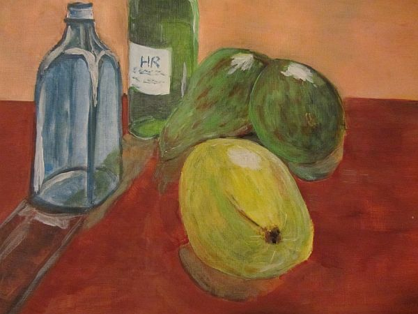 2 pears and a lemon