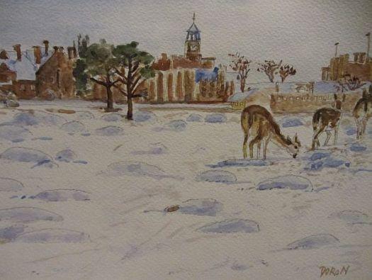 Knole under Snow