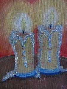 Candle Yellow Glow