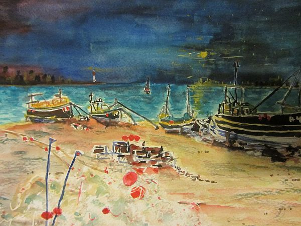 Fishing Boats in a Stormy Bay (2/2)