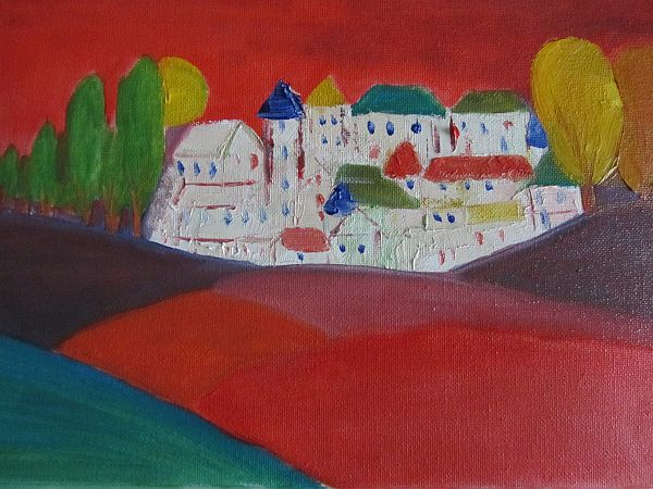Town in red