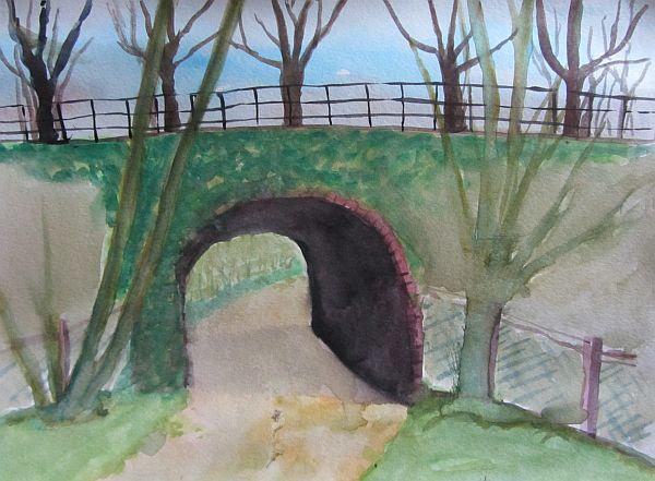 Bridge on a windy day