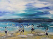 Football on the beach tn