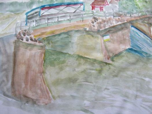 Yalding Bridge sketch tn