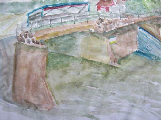 Yalding Bridge sketch tn